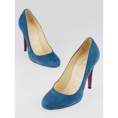 Christian Louboutin Turquin Suede Ron Ron 100 Pumps Size 5.5/36