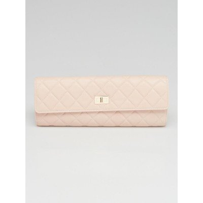 Chanel Pink Quilted Lambskin Leather Jewelry Case
