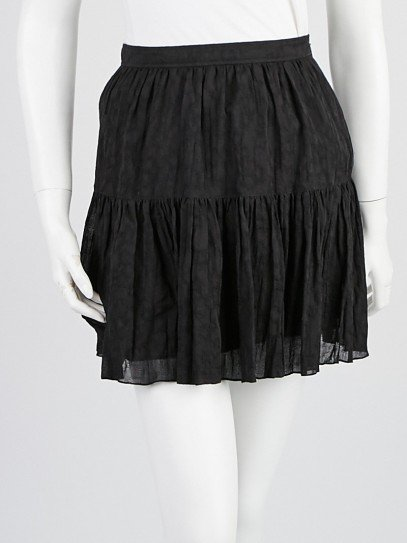 Yves Saint Laurent Black Cotton Skirt Size 4/36
