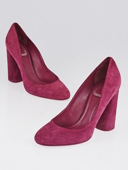 Christian Dior Red Suede Pumps Size 6/36.5