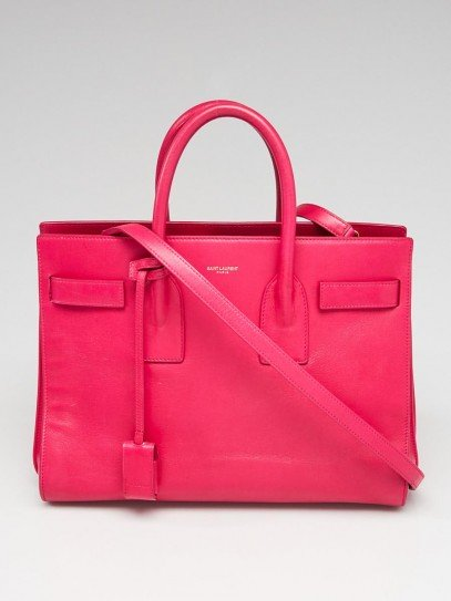 Yves Saint Laurent Pink Calfskin Leather Small Sac de Jour Tote Bag