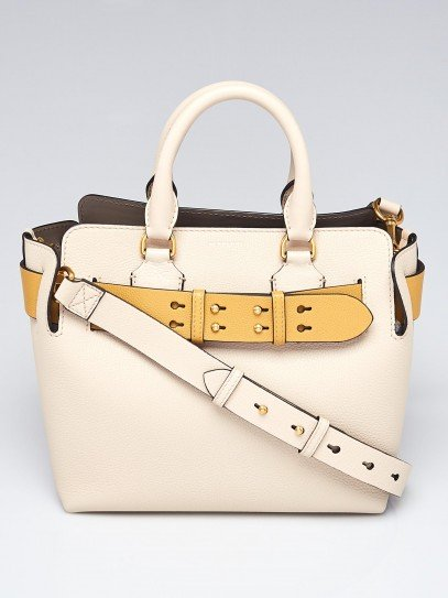 Burberry Limestone Tri-Color Pebbled Leather  Small Belt Bag