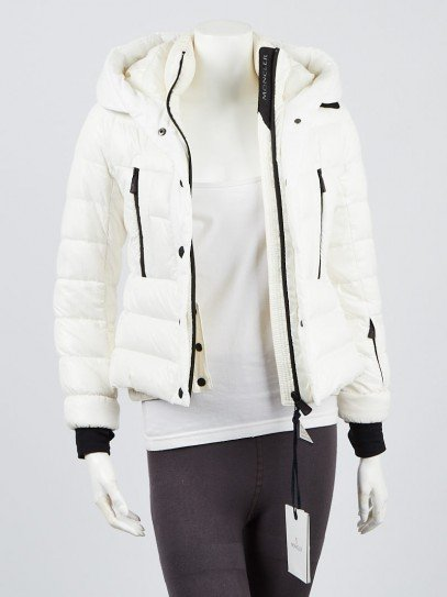Moncler White Quilted Nylon and Down Bever Puffer Jacket Kids Size 10