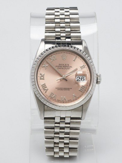 Rolex 36mm Stainless Steel Oyster Perpetual Datejust Watch- 16220
