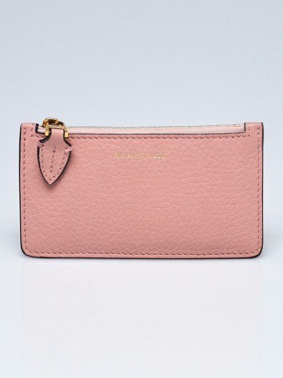 Burberry Ash Rose Grained Calfskin Leather Card Case