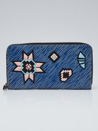 Louis Vuitton Blue/White Epi Azteque Zippy Wallet