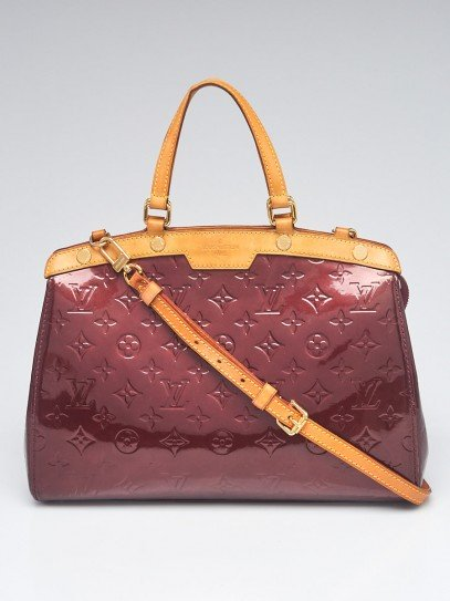Louis Vuitton Rouge Fauviste Monogram Vernis Brea MM Bag