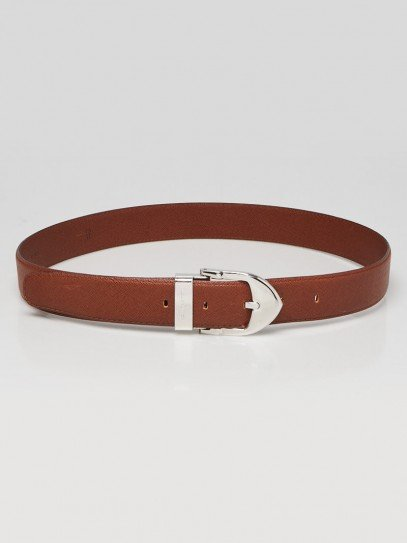 Louis Vuitton Brown Grained Leather Belt Size 110/44