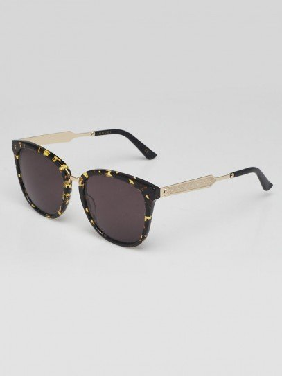 Gucci Brown Tortoise Shell Acetate Frame Sunglasses - 0073S