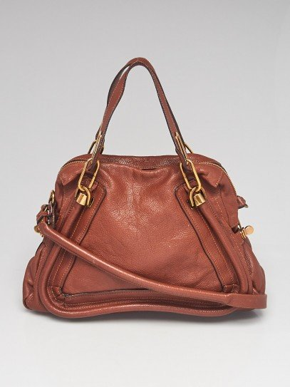 Chloe Brown Leather Medium Paraty Bag