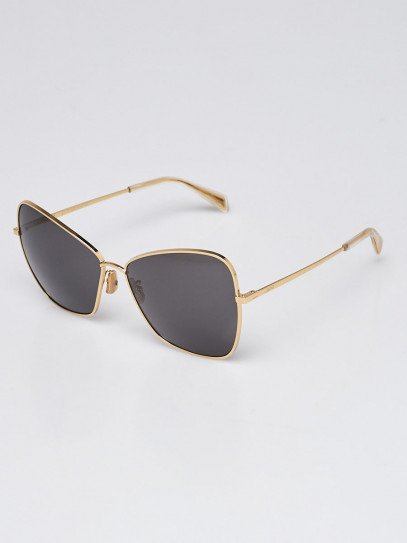 Celine Goldtone Metal Frame Gradient Tinted Sunglasses- CL40080U