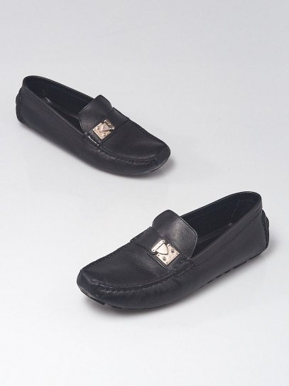 Louis Vuitton Black Leather Driving Loafers Size 9.5/40