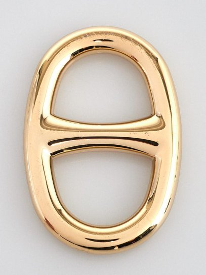 Hermes Gold Permabrass Chain d'Ancre Scarf Ring