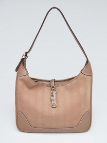 Hermes 31cm Etoupe Swift Leather and Toile Trim II Bag