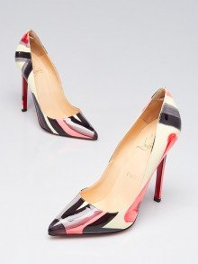 Christian Louboutin Multicolor Graffiti Patent Leather Pigalle 120 Pumps Size 5/35.5