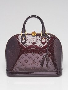 Louis Vuitton Amarante Monogram Vernis Alma PM Bag