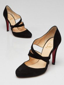 Christian Louboutin Black Suede Citoyenne 100 Pumps Size 5/35.5