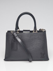 Louis Vuitton Black Epi Leather Kleber PM Bag