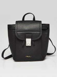 3.1 Phillip Lim Black Shark Embossed Leather Pashli Soft  Backpack Bag