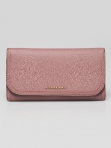 Burberry Dusty Pink Grained Leather Kenton Continental Wallet