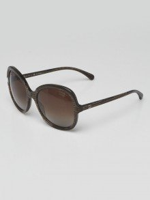 Chanel Brown Printed Acetate Frame Oversized Sunglasses - 5320