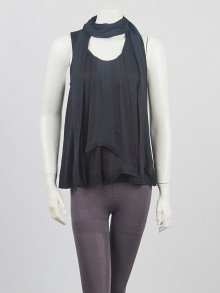 Givenchy Black Silk Blend Fabric Sleeveless Top Size XS