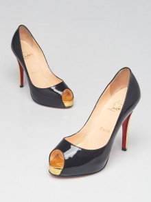 Christian Louboutin Black Patent Leather Very Prive 120 Pumps Size 6/36.5