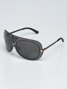 Louis Vuitton Black Acetate Aviator Sunglasses - Z0954W