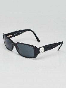 Chanel Black Quilted Acetate Frame Camellia Flower Sunglasses-5111