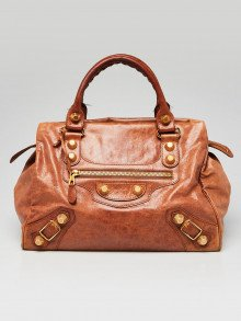 Balenciaga Automne Lambskin Leather Giant 21 Gold Midday Bag
