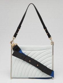 Chloe Airy Grey Quilted Leather Medium Roy Shoulder Bag