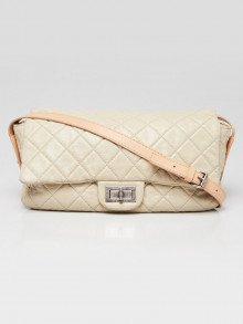 Chanel Beige Quilted Glazed Caviar Leather Reissue Messenger Bag