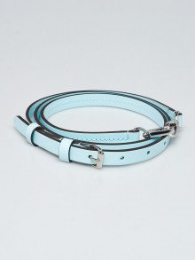 Louis Vuitton 12mm Light Blue Smooth Leather Adjustable Strap